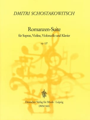 Romanzen-Suite Opus 127 CHOSTAKOVITCH Partition laflutedepan