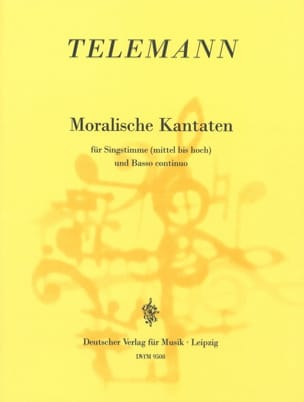Georg Philipp Telemann - Moralische Kantaten - Partition - di-arezzo.fr