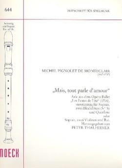 Michel Pignolet de Montéclair - Mais tout parle d'amour - Partition - di-arezzo.fr