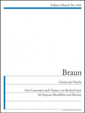 Gerhard Braun - Gärten der Nacht - Partition - di-arezzo.fr