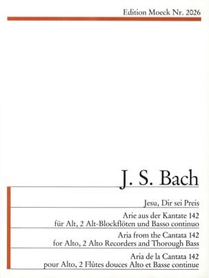 BACH - Jesu, Dir Sei Preis D-Moll. BWV 142 - Partition - di-arezzo.fr