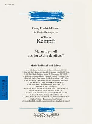 HAENDEL - Minuet in G minor - Sheet Music - di-arezzo.co.uk