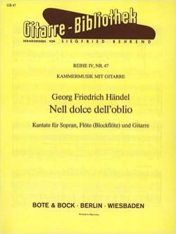 HAENDEL - Nell Dolce Dell 'Oblio Guitar Version - Sheet Music - di-arezzo.co.uk