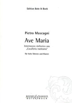 Pietro Mascagni - Ave Maria. Aloud - Sheet Music - di-arezzo.co.uk