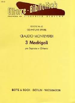 Claudio Monteverdi - 3 Madrigali Per Soprano and Chitarra - Sheet Music - di-arezzo.co.uk