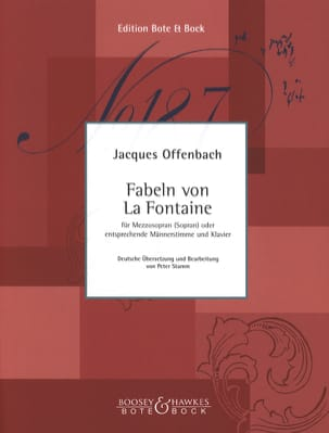 6 Fables de la Fontaine OFFENBACH Partition Mélodies - laflutedepan