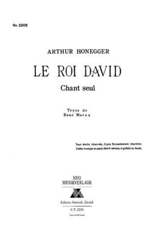 Arthur Honegger - Roi David. Choeur Seul - Partition - di-arezzo.fr