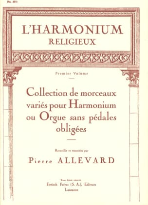 L' Harmonium Religieux Volume 1 Partition Orgue - laflutedepan