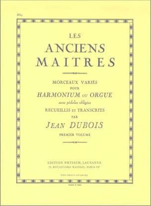 Les Anciens Maitres, Volume 1 Partition Orgue - laflutedepan