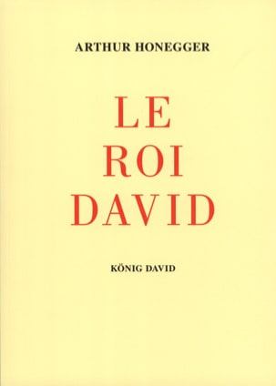 Le Roi David HONEGGER Partition Chœur - laflutedepan