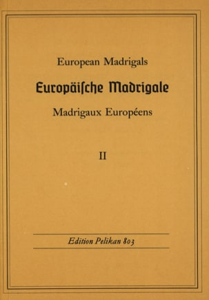 - Europäische Madrigale, Volume 2 - Sheet Music - di-arezzo.co.uk