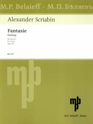Fantaisie Opus 28 - Alexander Scriabine - Partition - laflutedepan.com