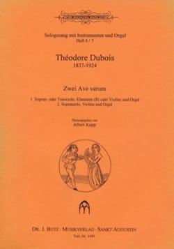 2 Ave verum Théodore Dubois Partition laflutedepan