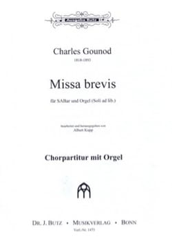 Charles François Gounod - Missa Brevis A-dur - Partition - di-arezzo.fr