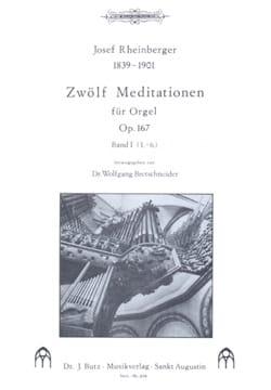 Josef Gabriel Rheinberger - 12 Meditationen Op. 167 Volume 1 - Sheet Music - di-arezzo.com