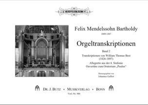 Orgeltranskiptionen. Volume 2 - Félix MENDELSSOHN - laflutedepan.com