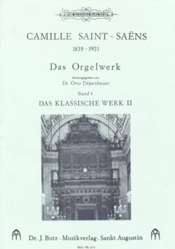 Camille Saint-Saëns - Oeuvre D'orgue Volume 4 - Partition - di-arezzo.fr