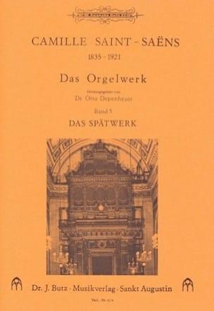 Camille Saint-Saëns - Oeuvre D'orgue Volume 5 - Partition - di-arezzo.fr