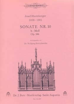 Sonate N° 10 Op. 146 - RHEINBERGER - Partition - laflutedepan.com