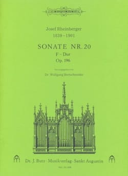 Sonate N° 20 Op. 196 - Josef Gabriel Rheinberger - laflutedepan.com