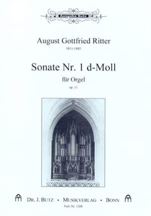 Sonate n° 1 Ré Mineur Op. 11 August Gottfried Ritter laflutedepan