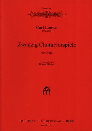 Carl Loewe - 20 Choralvorspiele - Partition - di-arezzo.fr