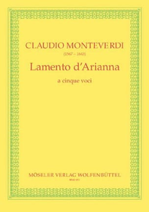 Claudio Monteverdi - Lamento of Arianna - Sheet Music - di-arezzo.co.uk