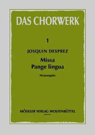Josquin Desprez - Missa Pange lingua - Partition - di-arezzo.fr