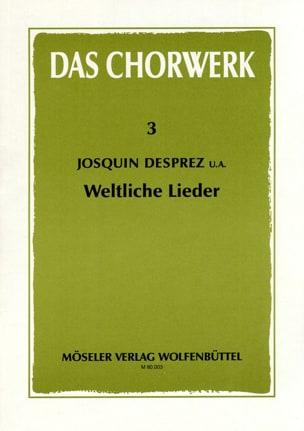 Weltliche Lieder - Josquin et Autres Desprez - laflutedepan.com