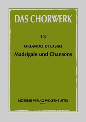 Madrigale und Chansons Orlando Di Lassus Partition laflutedepan