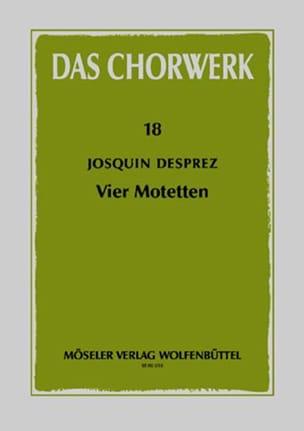 4 Motetten Josquin Després Partition Chœur - laflutedepan