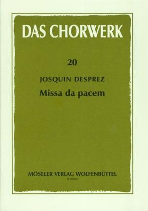 Missa Da pacem Josquin Després Partition Chœur - laflutedepan