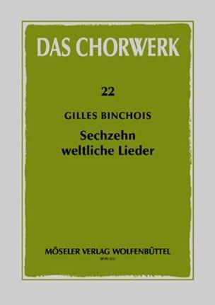 Gilles Binchois - 16 Weltliche Lieder - Sheet Music - di-arezzo.com