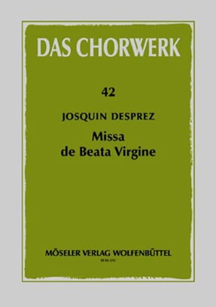 Josquin Després - Missa de Beata Virgine - Partition - di-arezzo.fr