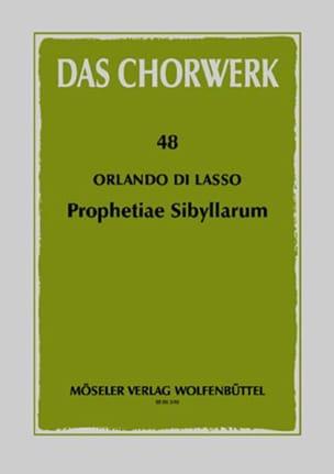 Orlando di Lassus - Prophetiae Sibyllarum - Partition - di-arezzo.fr