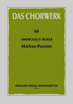 Markus-Passion - Ambrosius Beber - Partition - laflutedepan.com