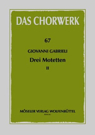 3 Motetten Giovanni Gabrieli Partition Chœur - laflutedepan