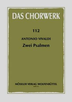 Antonio Vivaldi - 2 Psalmen - Partition - di-arezzo.fr