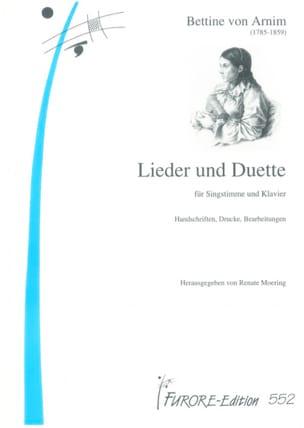 Lieder und Duette - Bettine von Arnim - Partition - laflutedepan.com