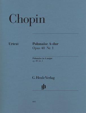 Frédéric Chopin - Polonaise en La majeur Opus 40-1 - Partition - di-arezzo.fr