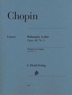 CHOPIN - Polonaise en La majeur Opus 40-1 - Partition - di-arezzo.fr
