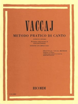 Nicola Vaccai - Metodo Pratico. Aloud - Sheet Music - di-arezzo.co.uk