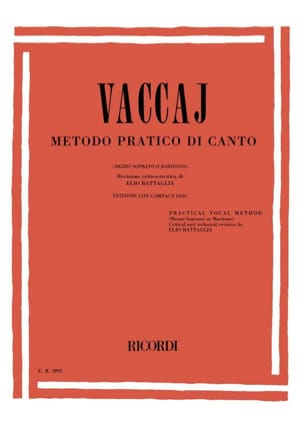 Nicola Vaccai - Metodo Pratico. Mean Voice - Sheet Music - di-arezzo.co.uk