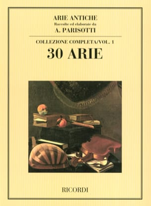 Alessandro Parisotti - Arie Antiche Volume 1 - Partition - di-arezzo.fr
