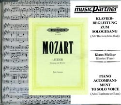 MOZART - Lieder Alto-Baryton Cd - Partition - di-arezzo.fr