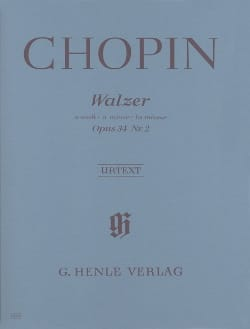 Valse En la Mineur Opus 34 N° 2 CHOPIN Partition Piano - laflutedepan