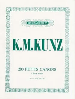 K.M. Kunz - 200 Small Cannons Opus 14 - Sheet Music - di-arezzo.co.uk