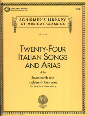 24 Italian Songs And Arias Serious Voice - Sheet Music - di-arezzo.co.uk