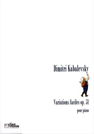 Variations Faciles Opus 51 KABALEVSKY Partition Piano - laflutedepan