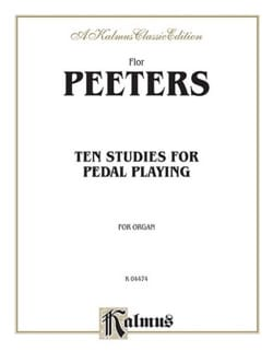 10 Studies For Pedal-Playing Flor Peeters Partition laflutedepan
